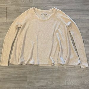 We the Free Ivory Waffle Knit Thermal Top